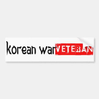 bumpersticker de la Guerra de Corea Pegatina Para Auto