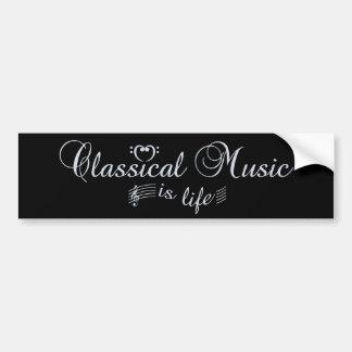 Bumpersticker de la música clásica etiqueta de parachoque