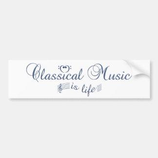 Bumpersticker de la música clásica pegatina para auto