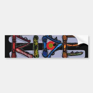Bumpersticker de la snowboard de Colorado del pase Etiqueta De Parachoque