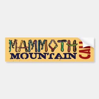 Bumpersticker de la snowboard de Mammoth Mountain  Pegatina Para Auto