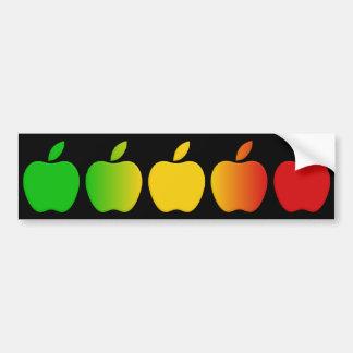 Bumpersticker de las manzanas pegatina de parachoque