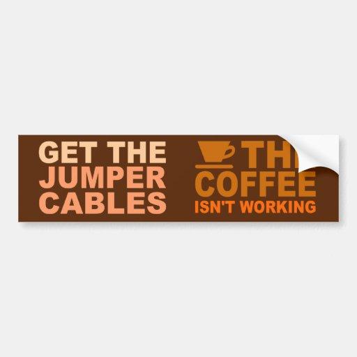 Bumpersticker de los cables de puente etiqueta de parachoque
