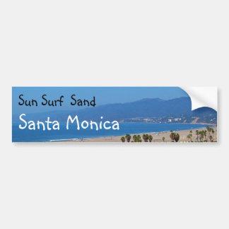 Bumpersticker de Santa Mónica de la arena de la Pegatina Para Auto