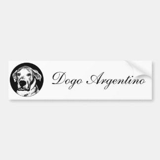 Bumpersticker del argentino de Dogo Etiqueta De Parachoque