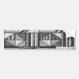 bumpersticker del arte abstracto blanco y negro po etiqueta de parachoque