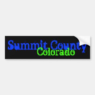 Bumpersticker del condado de Summit Pegatina Para Auto