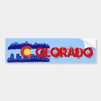 Bumpersticker del horizonte de Colorado Etiqueta De Parachoque