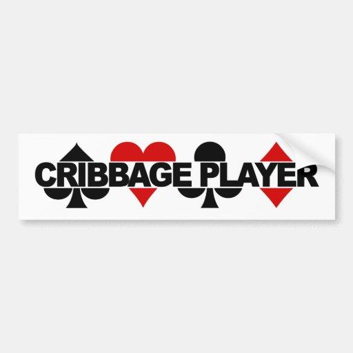 Bumpersticker del jugador de Cribbage Pegatina De Parachoque