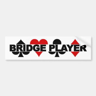 Bumpersticker del jugador de puente pegatina para auto