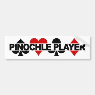 Bumpersticker del jugador del Pinochle Pegatina Para Auto