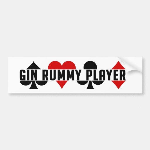 Bumpersticker del jugador del Rummy de ginebra Pegatina De Parachoque