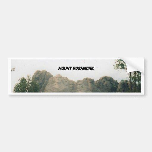 Bumpersticker del monte Rushmore Pegatina Para Auto