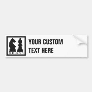 Bumpersticker del personalizado del AJEDREZ Pegatina Para Auto
