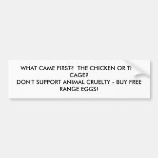 bumpersticker del pollo o de la jaula pegatina para auto