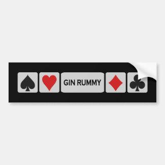 Bumpersticker del Rummy de ginebra Pegatina Para Auto
