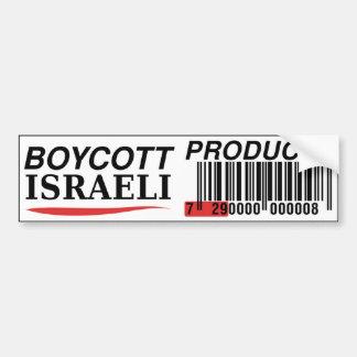 Bumpersticker israelí de los productos del boicote pegatina para auto