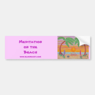 Bumpersticker - Meditation on the Beach Bumper Sticker