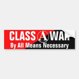 bumpersticker necesario de la guerra de clase por  pegatina para auto