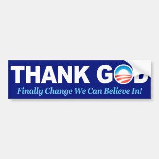 BumperSticker - Obama Thank God Bumper Sticker