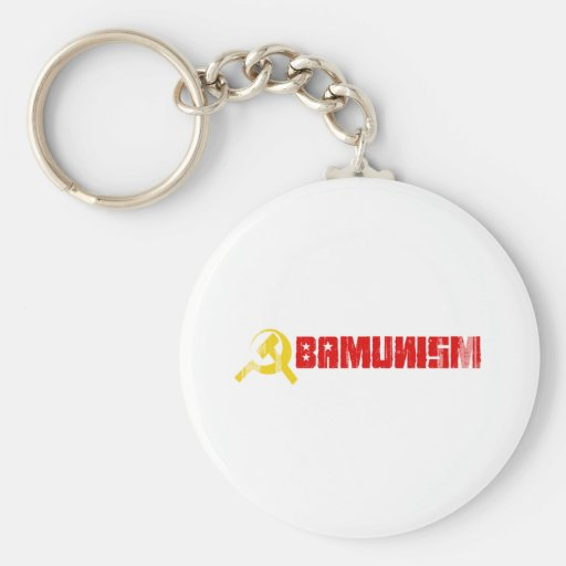 BUMPERSTICKER - OBAMUNISM RED- Faded.png Keychain