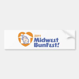 Bumpersticker oficial del logotipo de MidWestBunFe Pegatina Para Auto