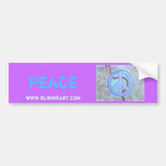 Bumpersticker - paz etiqueta de parachoque