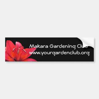 Bumpersticker-personalizar del club que cultiva un etiqueta de parachoque