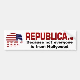 Bumpersticker republicano divertido pegatina para auto