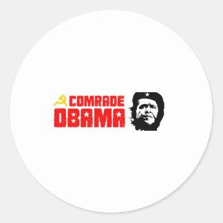 Bumpersticker - rojo de camarada Obama Pegatina Redonda