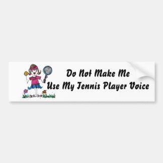 BumperSticker -Stick Tennis Girl Car Bumper Sticker