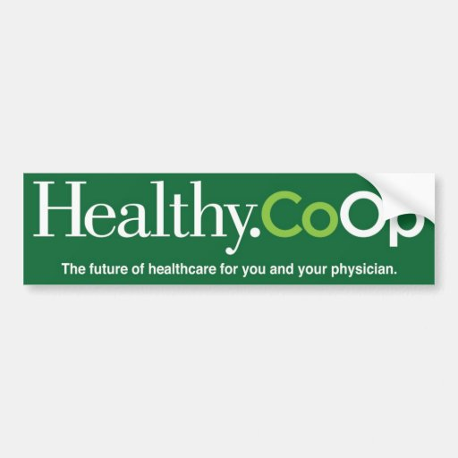 Bumpersticker verde de Healthy.Coop Etiqueta De Parachoque