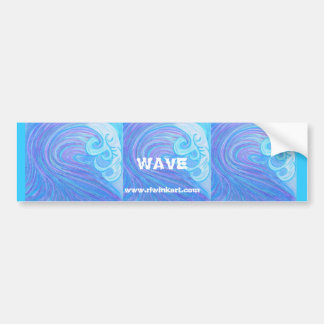 Bumpersticker -Wave Bumper Sticker