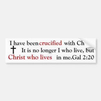 Bumperstickers cristiano etiqueta de parachoque
