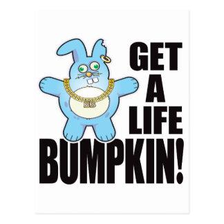 Bumpkin Bad Bun Life Postcard