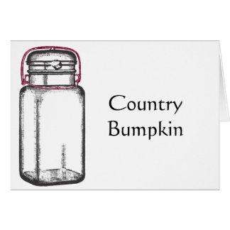 Bumpkin del país tarjeta de felicitación