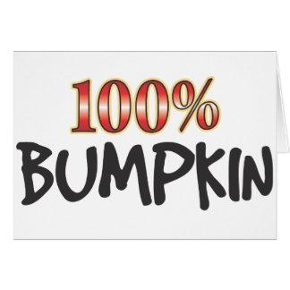 Bumpkin el 100 por ciento tarjeta de felicitación