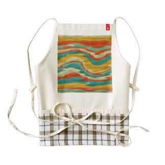 Bumps abstract design zazzle HEART apron