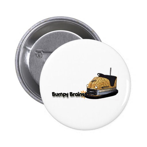 Bumpy Brains Bumper Car Logo 2 Inch Round Button