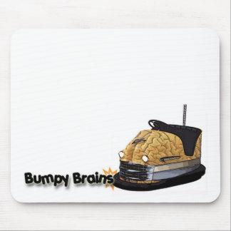 Bumpy Brains Bumper Car Logo Mouse Pad