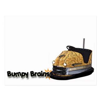 Bumpy Brains Bumper Car Logo Postcard