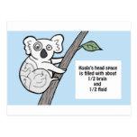 Bumpy Brains Koala Postcard