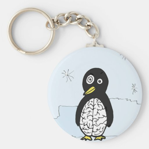 Bumpy Brains Penguin Keychains