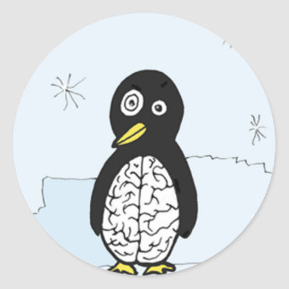 Bumpy Brains Penguin Classic Round Sticker