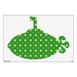 Bumpy green pattern wall decal