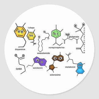 Bumpy Neurotransmitters Classic Round Sticker