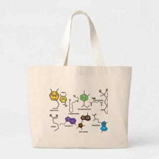 Bumpy Neurotransmitters Large Tote Bag