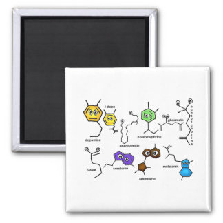 Bumpy Neurotransmitters 2 Inch Square Magnet