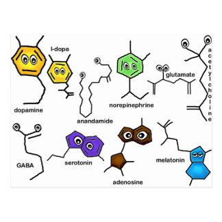 Bumpy Neurotransmitters Postcard