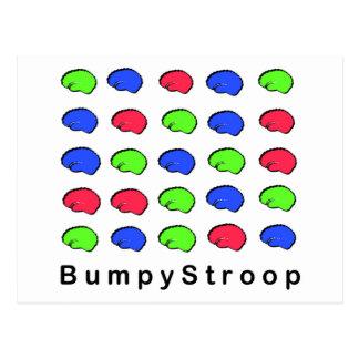 Bumpy Stroop Postcard
